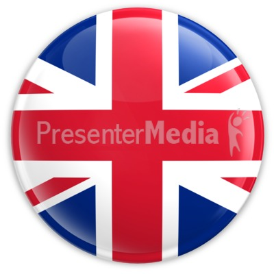 Badge of United Kingdom Flag Presentation clipart
