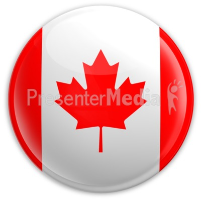 Badge of The Canadian Flag Presentation clipart