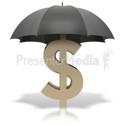 Black Umbrella Dollar Sign Presentation clipart