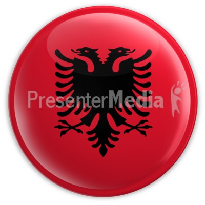 Badge of the Albanian Flag Presentation clipart