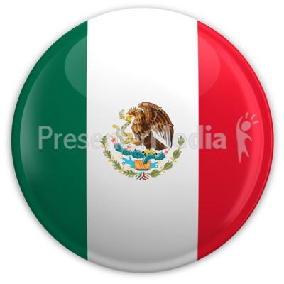 Badge of the Mexican Flag Presentation clipart