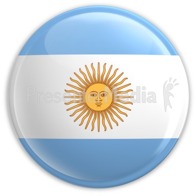 Badge of Argentina's Flag Presentation clipart
