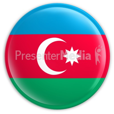 Badge of the Azerbaijan Flag Presentation clipart