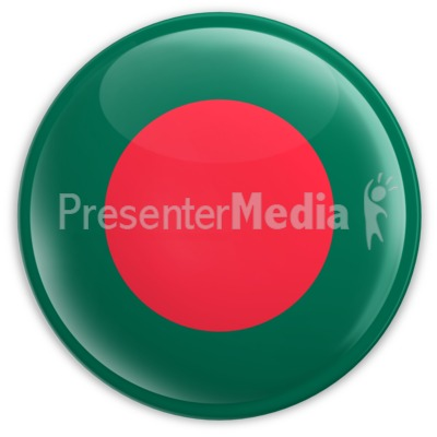 Badge of the Bangladesh Flag Presentation clipart