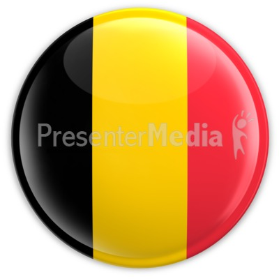Badge of the Belgium Flag Presentation clipart