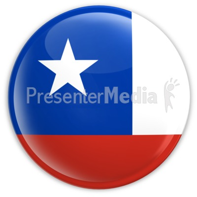 Badge of the Chile Flag Presentation clipart