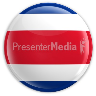 Badge of the Costa Rican Flag Presentation clipart