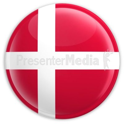 Badge of the Denmark Flag Presentation clipart