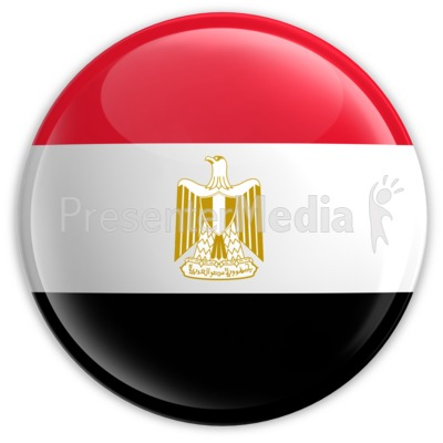 Badge of the Egyptian Flag Presentation clipart
