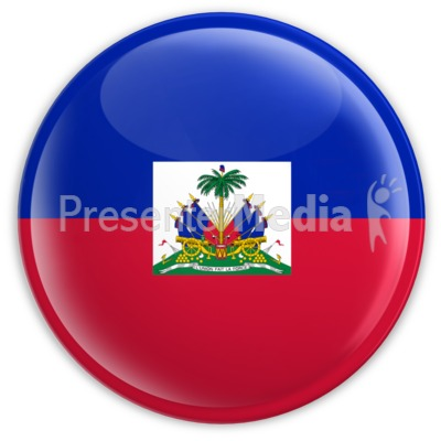 Badge of the Flag of Haiti Presentation clipart