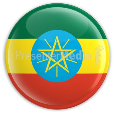 Badge of the Ethiopian Flag Presentation clipart