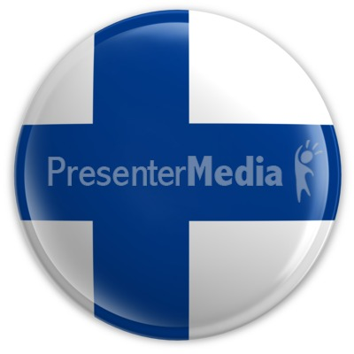 Badge of the Flag of Finland Presentation clipart