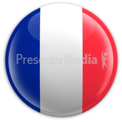 Badge of the French Flag Presentation clipart