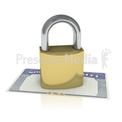 Social Security Locked  Presentation clipart