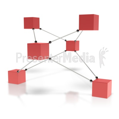 Connected Boxes  Presentation clipart