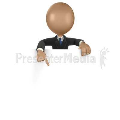 Business Man Sign Point  Presentation clipart