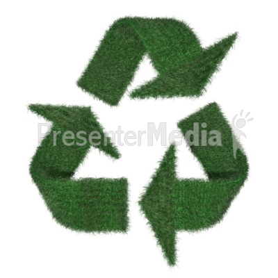 Grass Recycle Symbol Presentation clipart