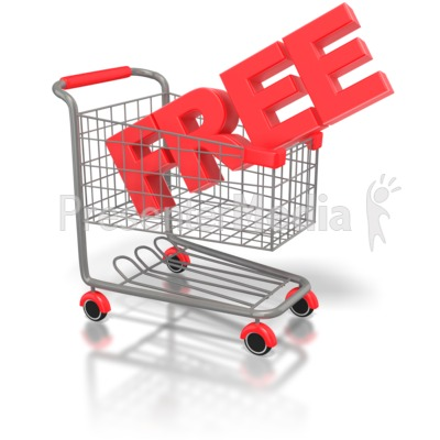 Free Shopping Cart Presentation clipart