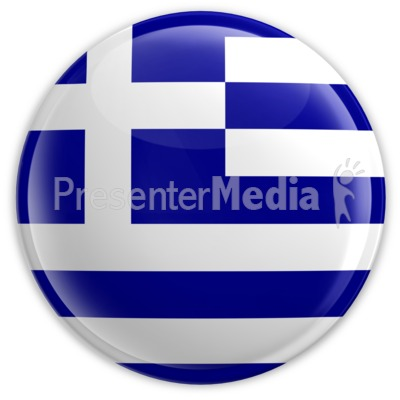 Badge of the Flag of Greece Presentation clipart