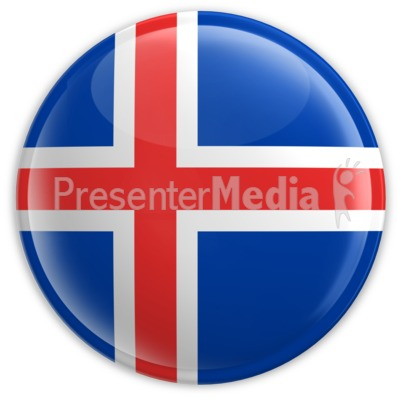 Badge of the Flag of Iceland Presentation clipart
