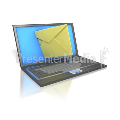 Laptop Internet Mail  Presentation clipart