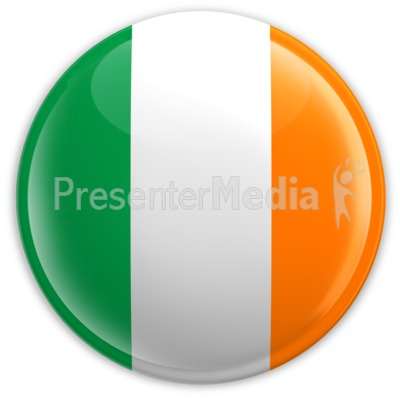 Badge of the Flag of Ireland Presentation clipart