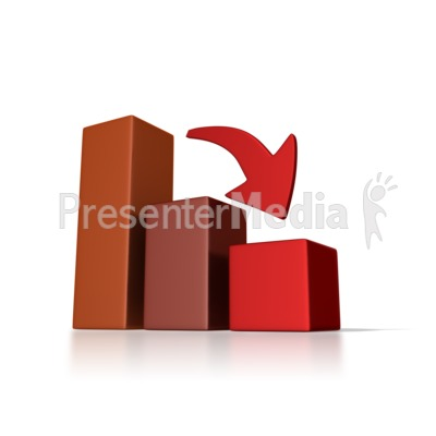 Graph Down Trend Presentation clipart