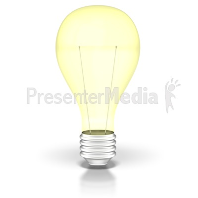 Light Bulb On  Presentation clipart
