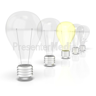 Light Bulb Row  Presentation clipart