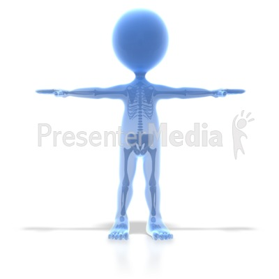 Stick Figure X Ray Presentation clipart