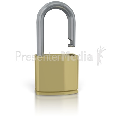 Unsecure Lock Presentation clipart