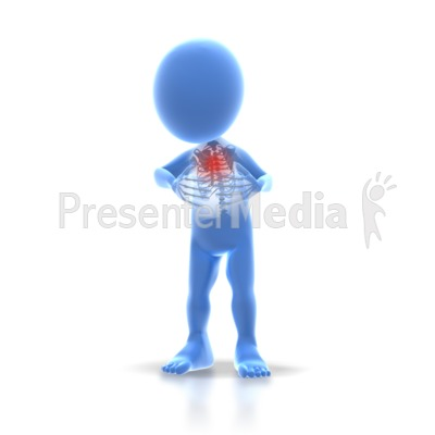 Stick Figure Chest Pain Presentation clipart