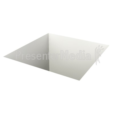 Square Hole In Ground Presentation clipart