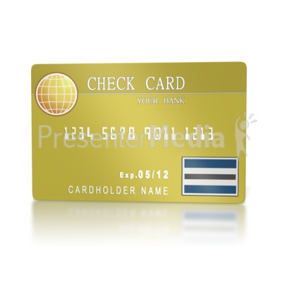 Bank Check Card  Presentation clipart