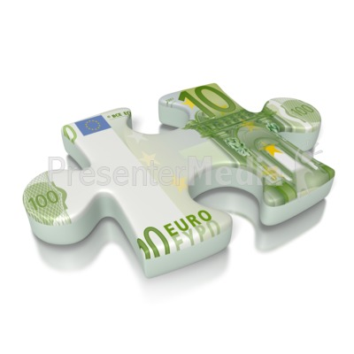 Euro Puzzle Piece Currency Presentation clipart