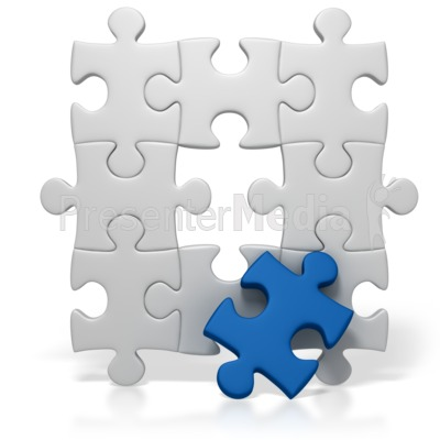 Blue Puzzle Piece Missing Presentation clipart