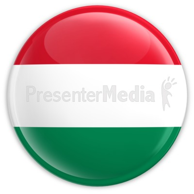 Badge of the Flag of Hungary Presentation clipart