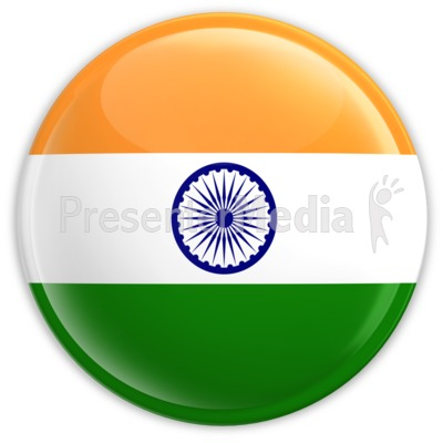 Badge of the Flag of India Presentation clipart