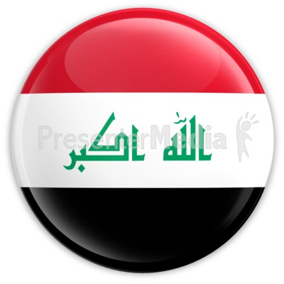 Badge of the Flag of Iraq Presentation clipart