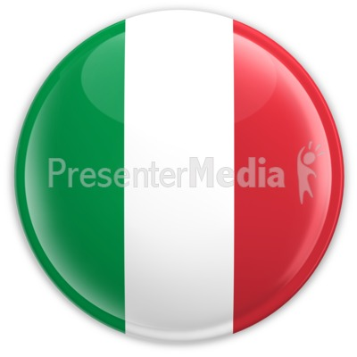 Badge of the Flag of Italy Presentation clipart