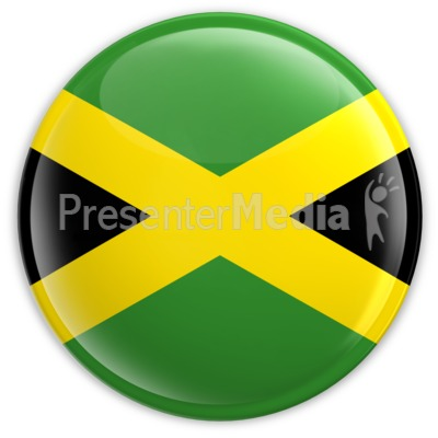 Badge of the Flag of Jamaica Presentation clipart