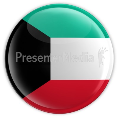 Badge of the Flag of Kuwait Presentation clipart