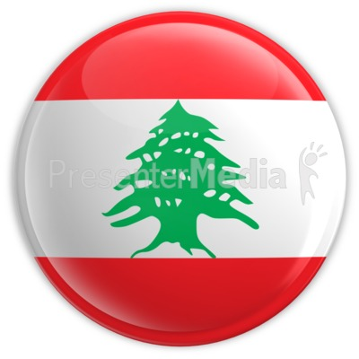 Badge of the Flag of Lebanon Presentation clipart