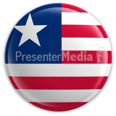 Badge of the Flag of Liberia Presentation clipart