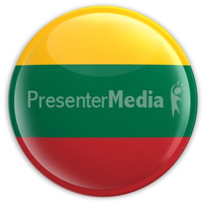 Badge of the Flag of Lithuania Presentation clipart