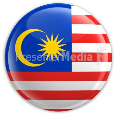 Badge of the Flag of Malaysia Presentation clipart