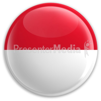 Badge of the Flag of Monaco Presentation clipart