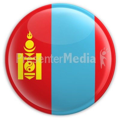 Badge of the Flag of Mongolia Presentation clipart