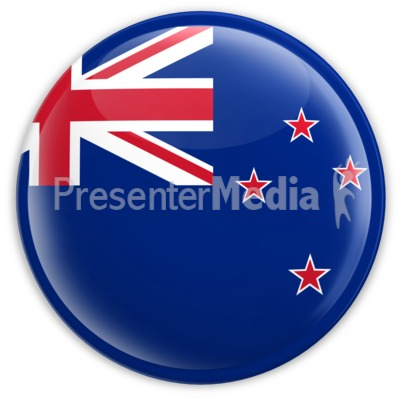 Badge of the Flag of New Zealand Presentation clipart