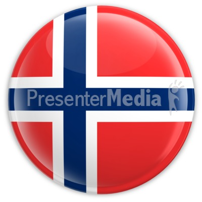 Badge of the Flag of Norway Presentation clipart
